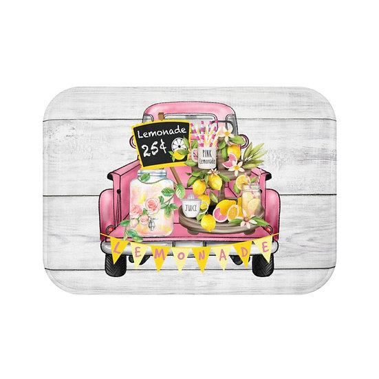 Bath Mat, Kitchen Mat, Farmhouse Lemonade Truck Mat, Citrus Bathroom Accessories