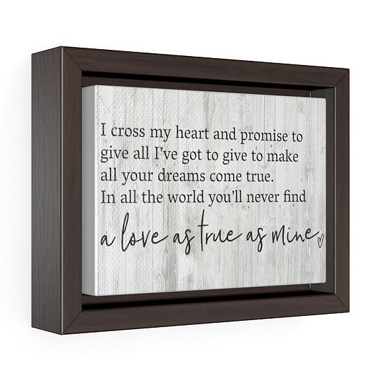 Song Lyric Print, I Cross my Heart Song Lyrics, Personalized Canvas
