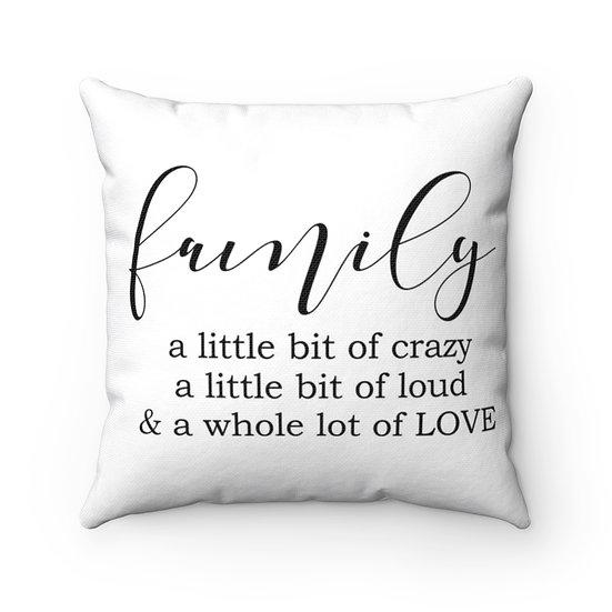 Family Pillows, Family Farmhouse Pillow, Family Quote Pillow