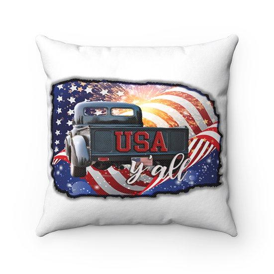 Vintage USA Truck Pillow
