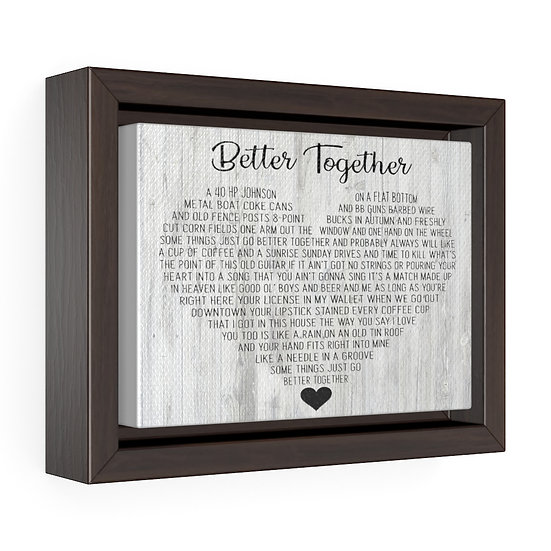 Better Together Personalized Wedding Song Canvas, Personalized Wedding Canvas