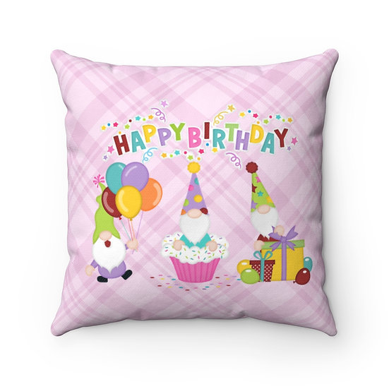 Happy Birthday Pillow, Pink Birthday Pillow, Gift for her, Friend Gift