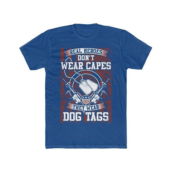 Real Men Dont Wear Capes Men's Cotton Crew Tee