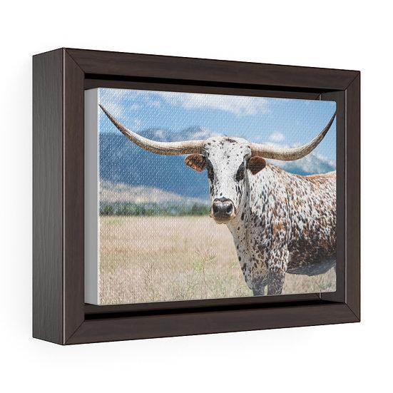 Canvas Print, Texas Longhorn Canvas, Western Ranch Canvas Print