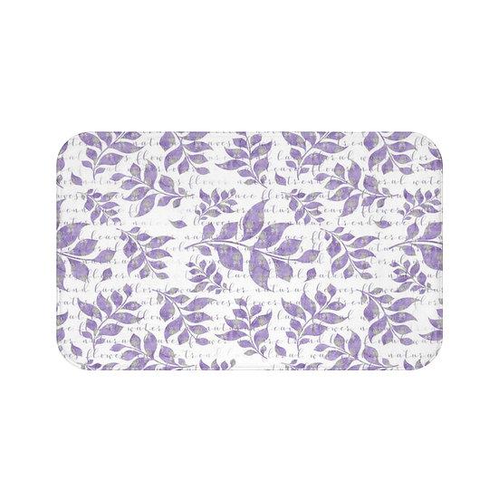 Lavender Floral Bath Mat