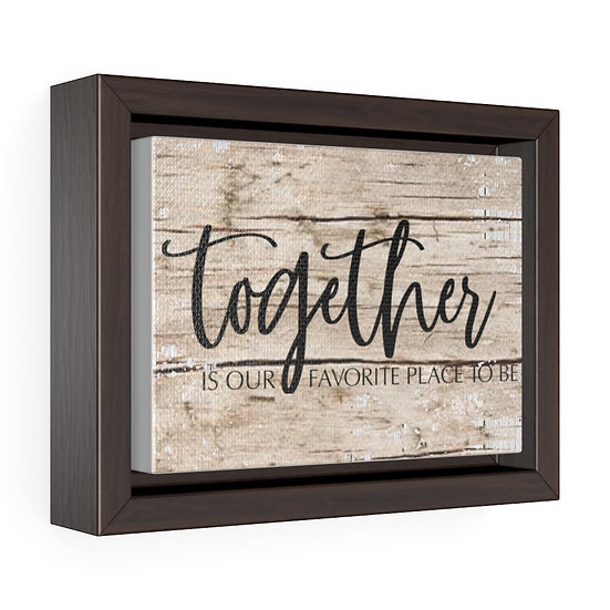 Canvas Print, Together is our favorite, Rustic Farmhouse Country Wall Hanging
