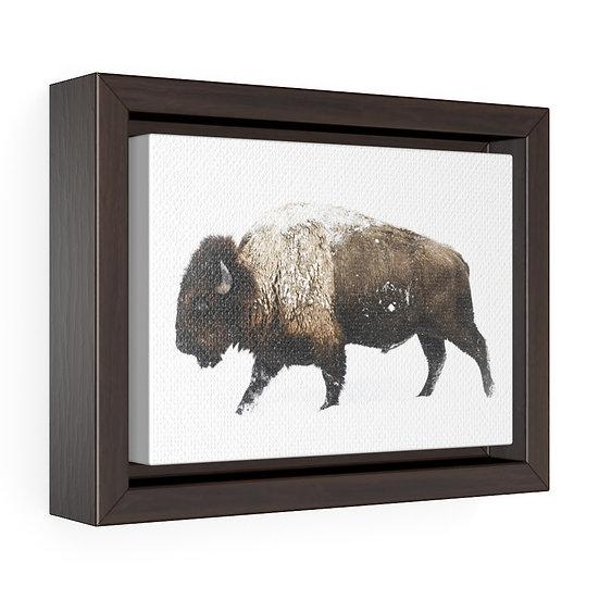 Canvas Print, Buffalo Snow Storm Canvas, Western Ranch Rustic Ranch Home Decor