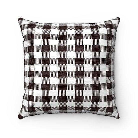 Plaid Pillows, Black and White Plaid Pillow, Cabin Pillow, Throw Pillows