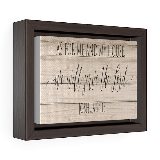 Scripture Sign, As for me and My house Canvas Print, Joshua 24 15 Dining Room