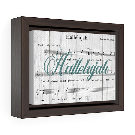 Canvas Print, Hallelujah Song Lyric Christian Gift, Baptisim Gift
