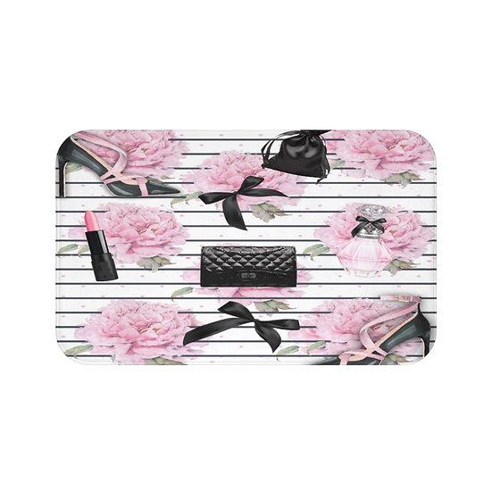 Bath Mat, Pink, Shoes, Handbag Fashion, Fashion Illustration bathroom decor