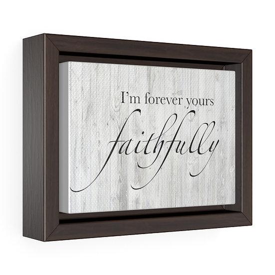 Faithfully Song Lyrics Canvas Wall Art, Personalized Song Lyrics Canvas Print