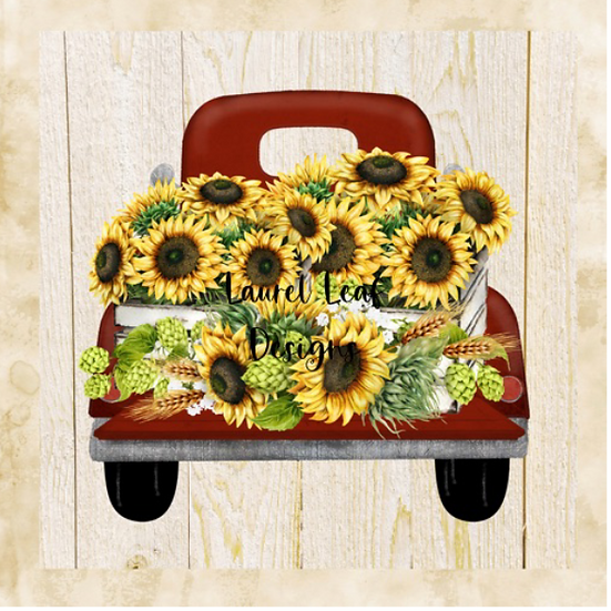 Farmhouse SunflowerTruck Png File, Autumn Svg file, Farmhouse digital do
