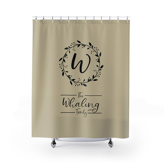 Custom Shower Curtain, Family Name Shower Liner, Personalized Shower Curtain