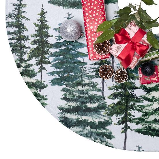 Christmas Tree Skirts, Snowy Pines Christmas Decor, Farmhouse Christmas