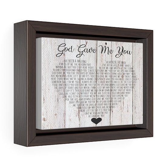 Personalized Canvas Print, God Gave Me You Framed Wrap Canvas, Wedding Gift