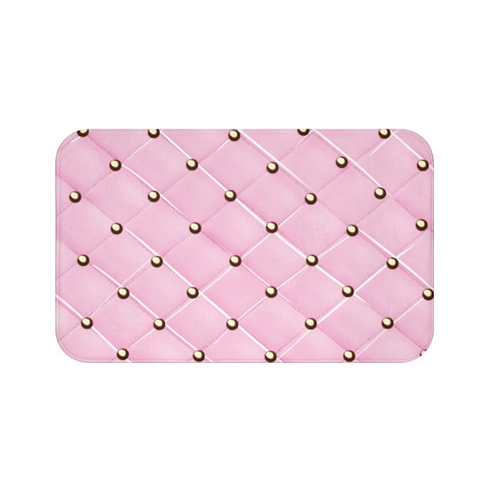 Pink Glam Fashion Bath Mat, Pink & Gold Fashionista Bath Mat