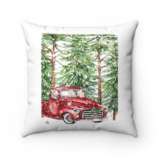 Red Truck Christmas Pillow, Christmas Red Truck, Christmas Red Truck Pillow
