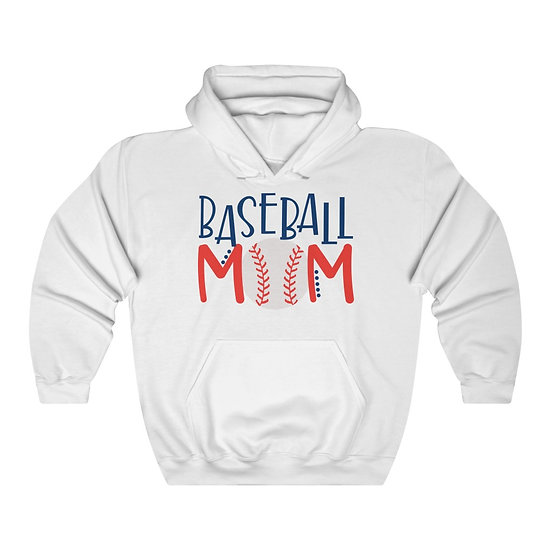 Baseball Mom Unisex Heavy Blend Hooded Sweatshirt