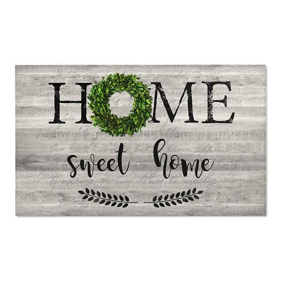 Area Rug, Home Sweet Home Rug, Gray Barnwood Print Farmhouse Rug, Western Rug