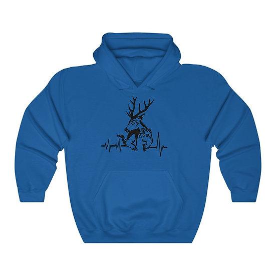 Hunting Heartbeat Unisex Heavy Blend Hooded Sweatshirt