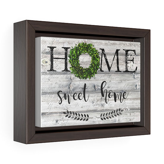 Canvas Print, Farmhouse Home Sweet Home Wreath, Farmhouse Wall Art, Gift for Her