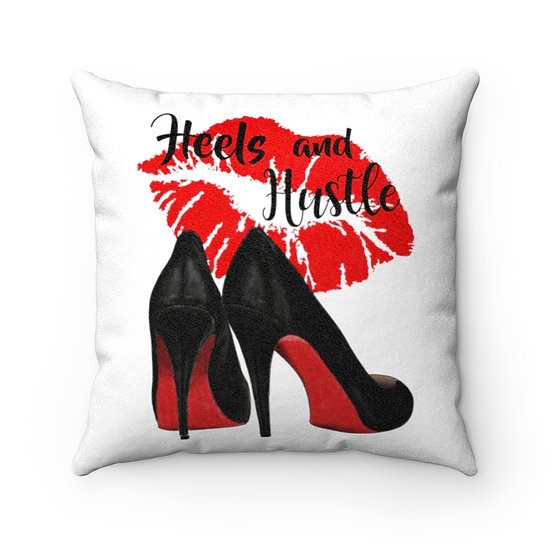 Red bottom Heels Fashion Throw Pillows, Red Shoes Fashionista Pillow Decor