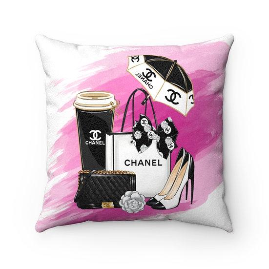 Fashion Throw Pillows, Pink and Black Fashionista Pillow Decor, Fashion Pillow