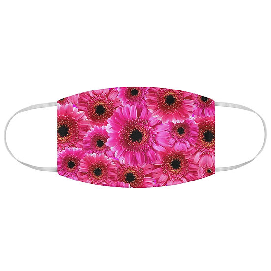 Gerber Daisy Floral Fabric Face Mask, Pink Face Mask