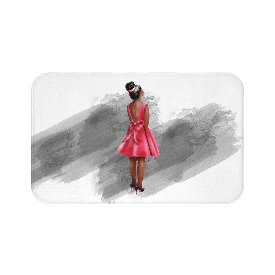 Bath Mat, Red Bottom Heels, African American Fashion, High Heels Illustration