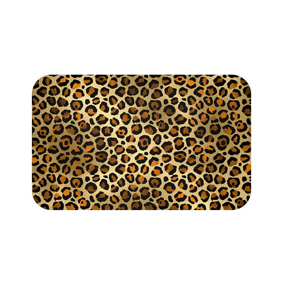 Leopard Glam Fashion Bath Mat, Leopard Print Fashionista Bath Mat