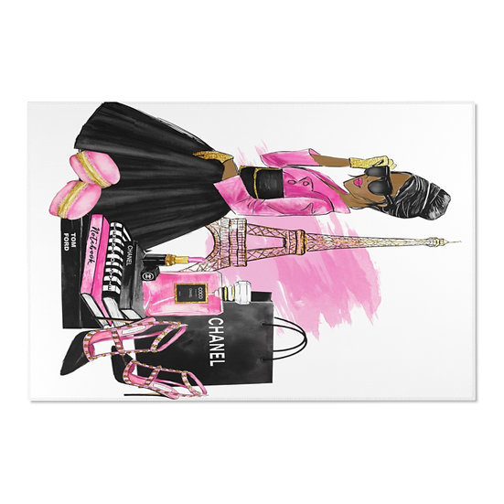 Area Rugs, Pink and Black Rug, African American fashionista Rug