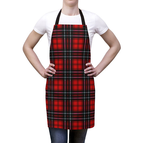 Red and Black Plaid Apron