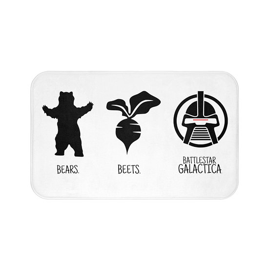 Bath Mat Bear Beets Battlestar Galactica The Office, Funny Bath Room Accessories