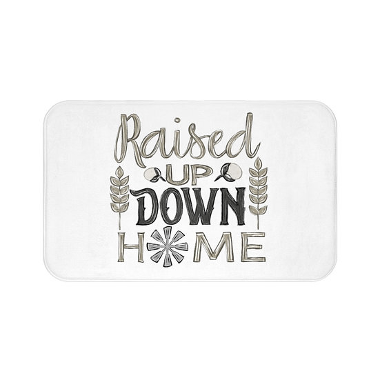 Bath Mat, White Raised Up Down Home Bath Room Accessories, Rugs and Mats