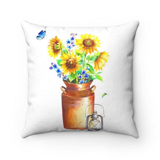 Sunflower Pillow, Farmhouse Sunflower Pillow, Throw Pillows, Decorative Pillow