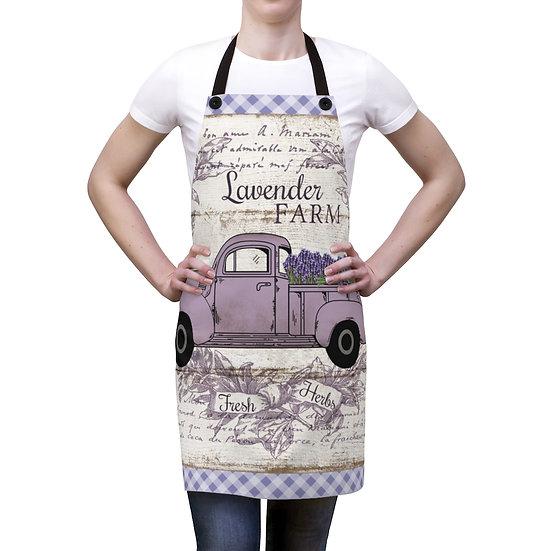 Farmhouse Lavender Truck Apron, Country Lavender Apron, Chef Apron, Garden Apron