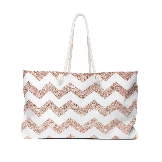 Pink Cheveron Weekender Bag