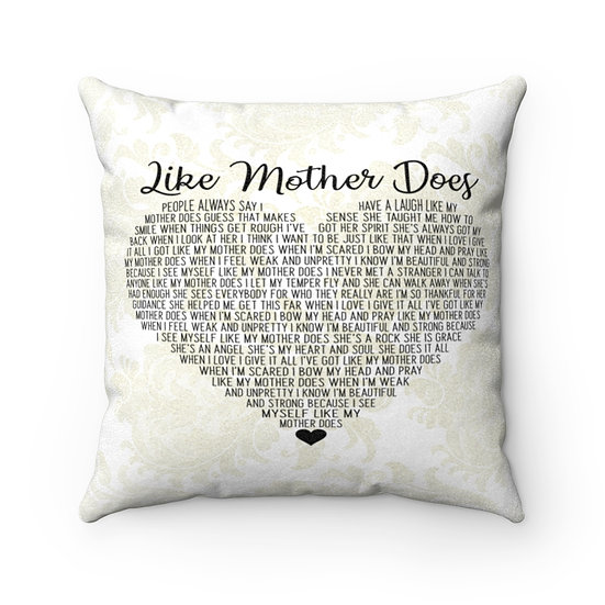 Pillow, Personalized Farmhouse Pillow, Like Mother Does Song Lyrics Pillow