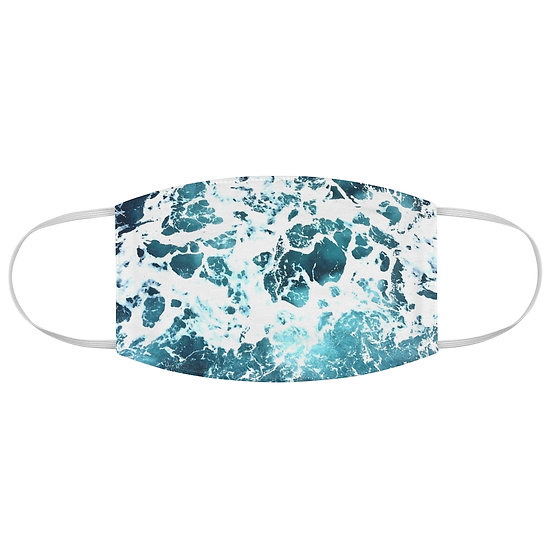 Ocean Waves Fabric Face Mask
