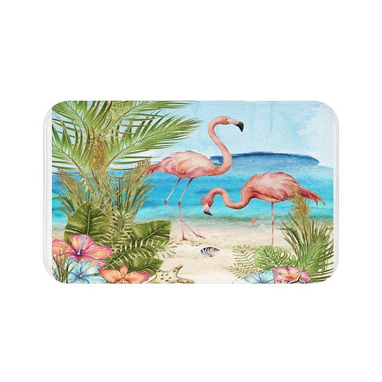 Bath Mat, Sun and Surf Bath Mat, Seaside FlamBath Room Accessories, Rugs & Mats