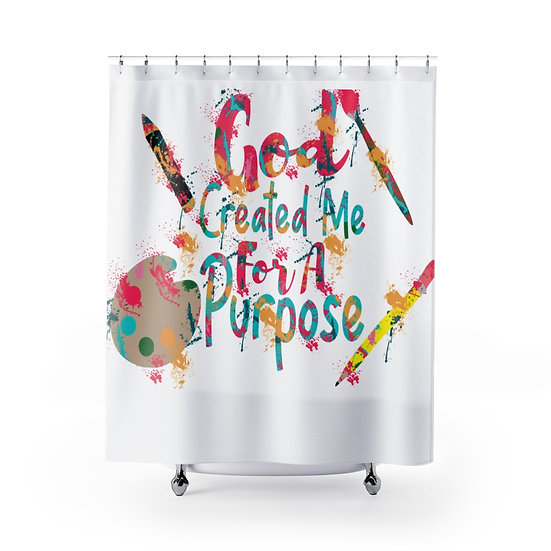 Christian Quote Shower Curtains, Spiritual Fabric Liner, Bathroom Decor