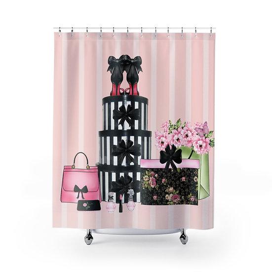 Shower Curtain, Fashionista Shoes & Shopping Glam Shower Decor