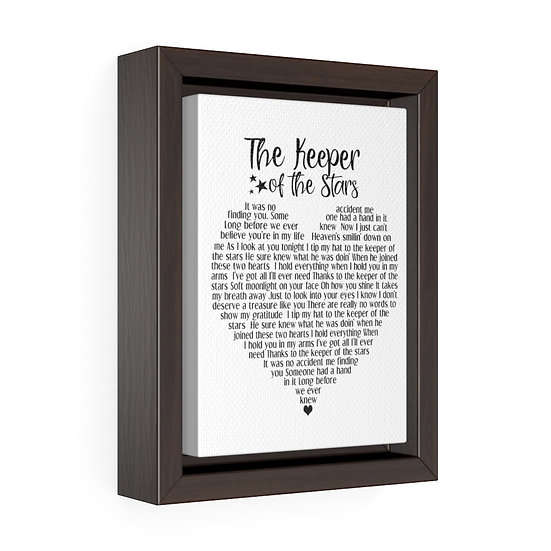 Song Lyric Print, Keeper of the Stars Song Lyrics Personalized Wedding Canvas
