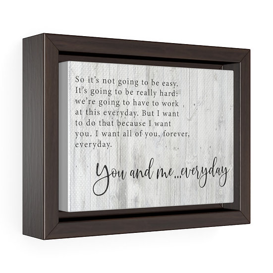 Canvas Print, The Notebook Movie Quote, Personalized Canvas Wall Art, Framed