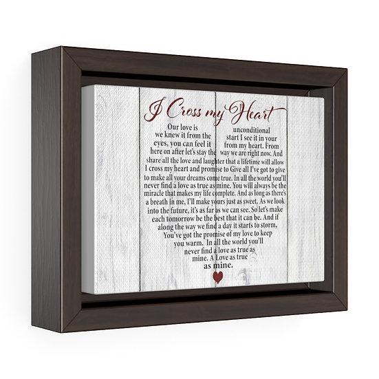 Personalized Song Lyrics Canvas Print, I Cross My Heart, Wedding Anniversary