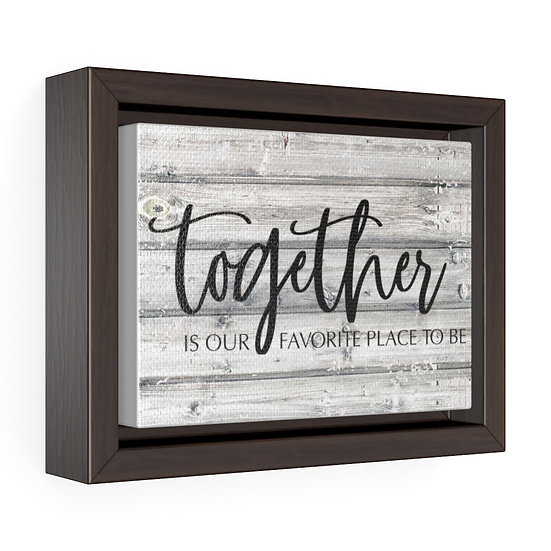 Canvas Print, Together is our favorite, Farmhouse Country Wall Hanging