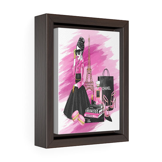 Fashion Illustration Chanel art, Woman Pink Chanel print, Fashion wall art