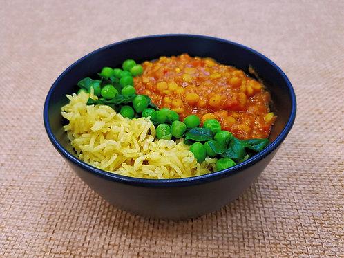 Yellow Tarka Dahl with Saffron Rice - Serves 1