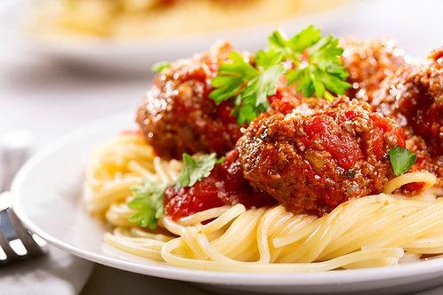 Italian Meatballs in a Rich Napolatana Sauce - Serves 3